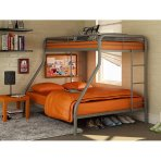 $140.14 Dorel Twin-Over-Full Metal Bunk Bed, Silver