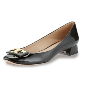 Tory Burch Gigi Logo Low-Heel Pump, Black