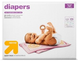 $53.98 + Free $15 Gift Card (2) Diapers Giant Pack (Select Size) - up & up