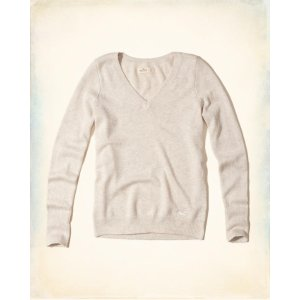 Girls V-Neck Icon Sweater | Girls Clearance | HollisterCo.com