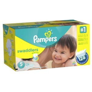 $25.18 Pampers Swaddlers Diapers Size 5 Economy Pack Plus 124 Count