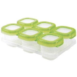 OXO Tot Baby Blocks Freezer Storage Containers - Green - 2 oz - 6 ct