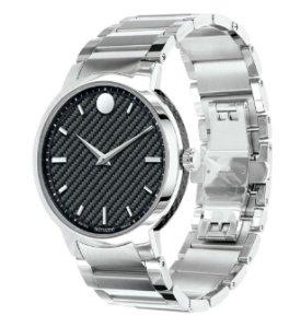MOVADO Gravity Black Carbon Fiber Dial Stainless Steel Men's Watch 0606838