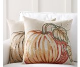 Applique Pumpkin Pillow Covers | Pottery Barn