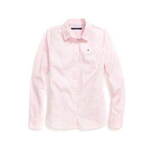 Long Sleeve Stripe Oxford Shirt