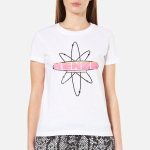 KENZO Women's Cotton Single Jersey T-Shirt - White - Free UK Delivery over £50