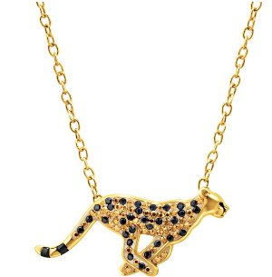 Cheetah Necklace with Swarovski Crystals