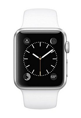 Apple Watch Series 1 38mm Silver Aluminum Case with White Band