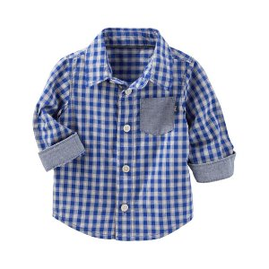 Baby Boy Plaid Button-Front Shirt | OshKosh.com