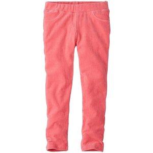 Girls Ribbed Velour Slim Pants | Sale Clearance Girls Pants
