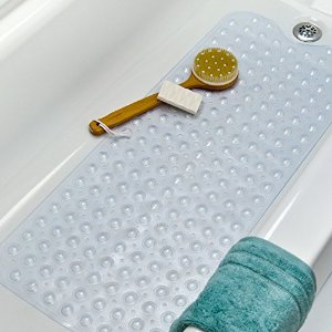 From $9.77 Simple Deluxe Slip-Resistant Bath Mat, Extra Long, White