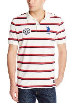 From $10.25 U.S. Polo Assn. Men's Sporty Tri-Stripe Pique Polo Shirt