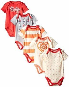 As Low As $6.9 Nautica Baby Girls' 5 Pack Bodysuits