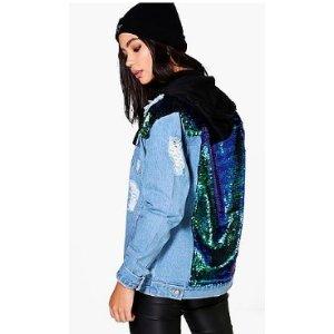 Zoe Sequin Yoke Denim Jacket
