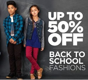 Up to 50% Off Sears Back to School Sale