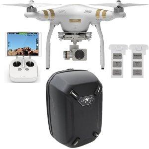 DJI Phantom 3 Professional Quadcopter Drone w/ 4K Camera + Backpack & Extra Battery