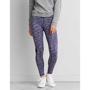 AEO Mesh Panel Legging , Blue | American Eagle Outfitters