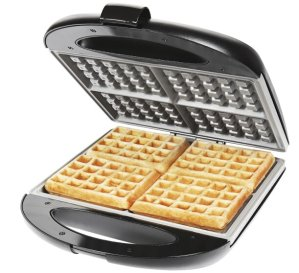 Chefman Square Flip Waffle Maker  Black