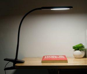 $17.93 SuwaSWE Big Size Desk Light Clamp Eye Care LED Reading Light