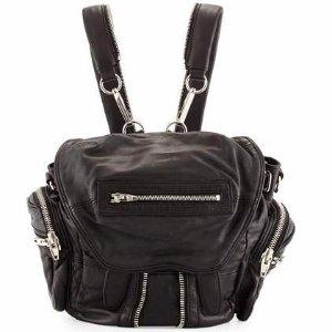 Alexander Wang Mini Marti Leather Backpack, Black/Nickel
