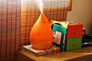 Crane Drop Shape Ultrasonic Cool Mist Humidifier - Orange
