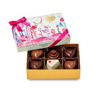 Valentine's Day Slices of Love Chocolate Gift Box, 6 pc. | GODIVA