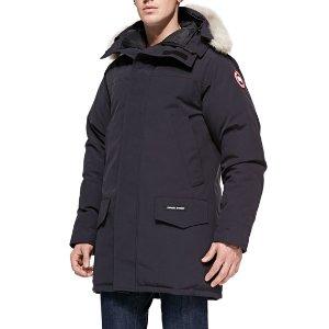Canada Goose Langford Arctic-Tech Parka Jacket with Fur Hood, Navy