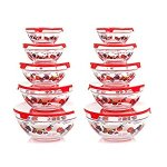 Chef Buddy 82-5758 20-Piece Glass Bowl Set, Clear