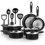 Vremi 15 Piece Nonstick Color Pop Cookware Set