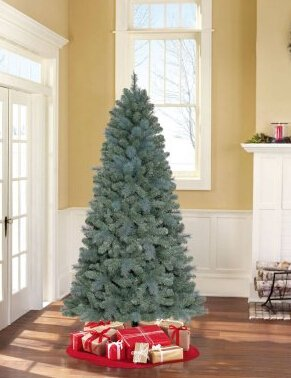 $69Holiday Time Unlit 7' Elwood Pine Artificial Christmas Tree