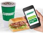 "买即送活动 Subway 购买一杯 30oz. 饮料,送 6"" Classic Sub 三文治"