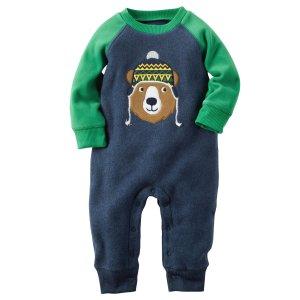 Baby Boy Heather Fleece Jumpsuit | Carters.com