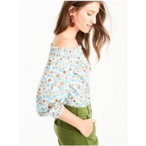Off-the-shoulder top in Liberty® Edenham floral