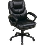 Office Star 双层加厚皮质办公室椅 黑色
