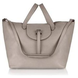 Halo handbag in taupe - italian leather - meli melo Double 12 sale