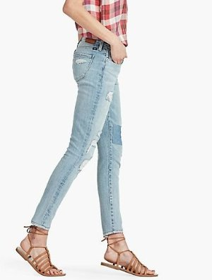 $17.59 Lucky Brand Women's Americana Brooke Ankle Skinny Destructed