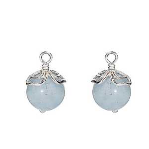 Rue La La — PANDORA Something Blue Silver Aquamarine Earring Charms