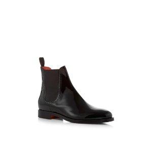 Patent Leather Chelsea Boots by Santoni | Moda Operandi