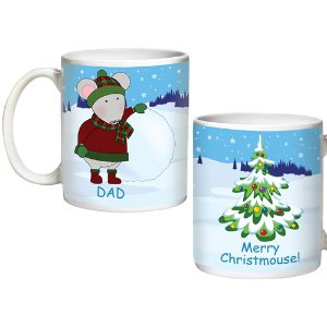 Personalized Merry Christmouse 15-Ounce Family Mugs, Dad - Walmart.com