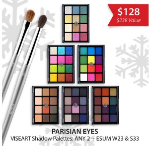 $128 (reg.$238)! PARISIAN EYES VISEART COSMETICS