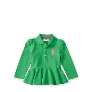 Big Pony Cotton Peplum Polo - Polo Tops & Bodysuits � BABY GIRL (0-24 months) - RalphLauren.com