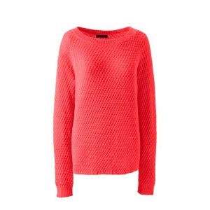 Women's Lofty Textured Mix Stitch Boatneck Sweater from Lands' End
