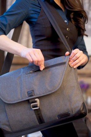 Brenthaven Collins Sleeve Plus Vegan Leather Shoulder Bag for Up to 15.4