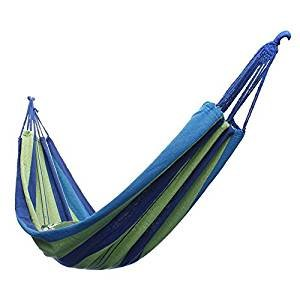 KING DO WAY Cotton Fabric Canvas Hammock Tree Hanging Swing Suspended Outdoor Indoor Bed 68