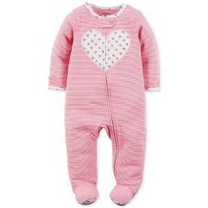 Carter's 1-Pc. Stripes & Heart Footed Coverall, Baby Girls (0-24 months) - Carter's - Kids & Baby - Macy's