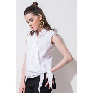 FRS White Tie Front Warp Shirt