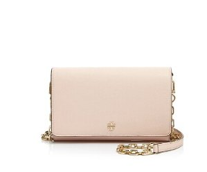 Up to 25% Off Tory Burch Robinson Metallic Wallet on a Chain Crossbody
