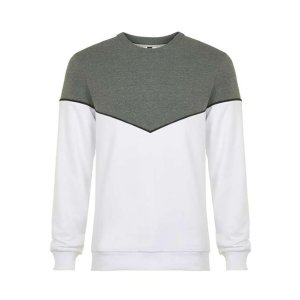 Grey and White Chevron Sweatshirt - Men's Hoodies & Sweatshirts - Clothing - TOPMAN USA