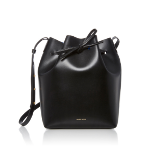 Black Leather Bucket Bag by Mansur Gavriel