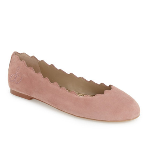Sam Edelman | Francis Scalloped Leather Ballet Flat | HauteLook